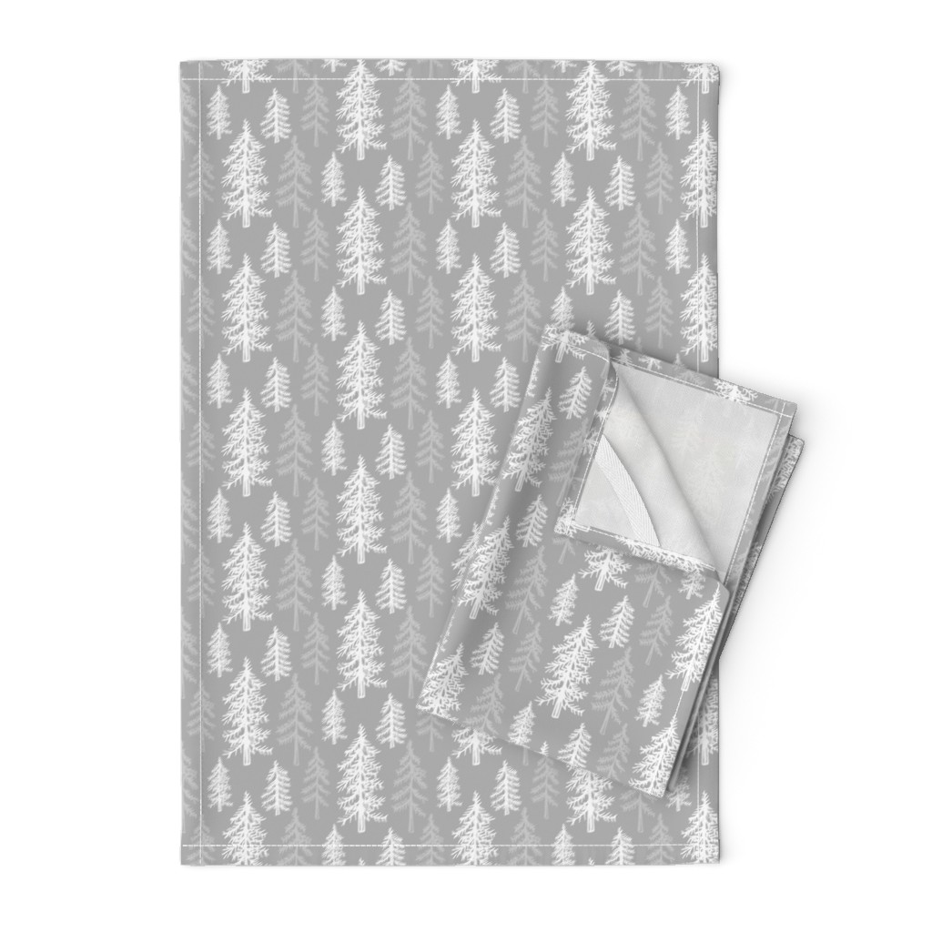 Orpington Tea Towels featuring Snowy Pines by jacquelinehurd