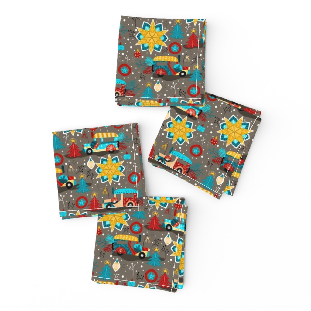 Frizzle Cocktail Napkins featuring Christmas in Philippines by oppositedge