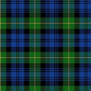 "Gordon Highlanders tartan, 6"" modern colors"