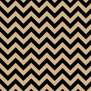 Tan Brown Black Color Chevron Zig Zag Pattern