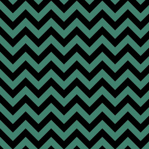 Viridian Blue Green Color Chevron Zig Zag Pattern