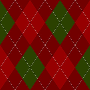 red green Christmas argyle