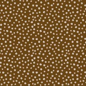 Tiny Daisy Coordinate in Brown