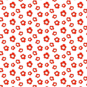 Simple Red and White Floral