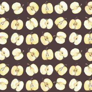 Apple halves by Anna burnt sienna
