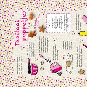 Tea towel Recipe Taaitaai poppetjes