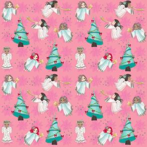 Christmas Angels Pink!