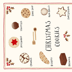 Christmas Cookies and Treats Tea Towel