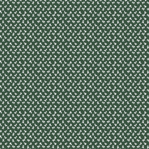 medium dot flower splash on dark green