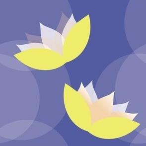 Indigo Water Lily Pattern