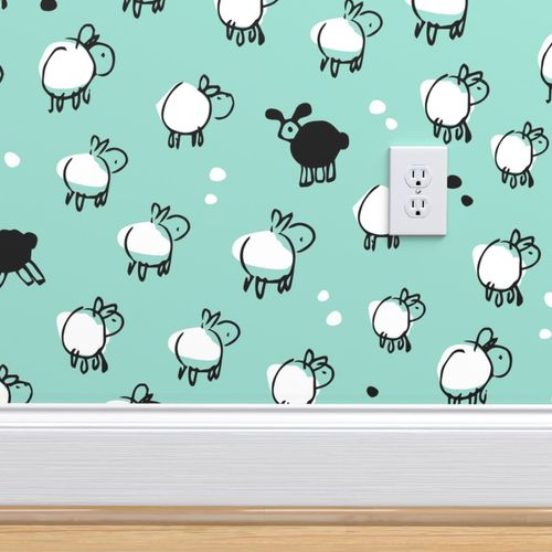 Wallpaper Black Sheep