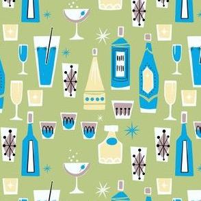 Happy Hour Midcentury Mixed Drinks