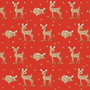 darling deer red