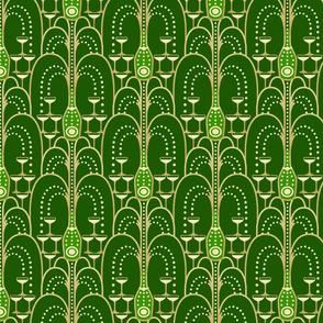1920s Champagne Fountain green medium
