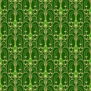 1920s Champagne Fountain green small