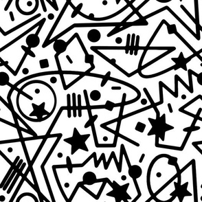 Seeing Stars//Black on White//Large Scale