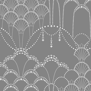 Deco Lace dark grey large