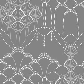 Deco Lace dark grey small