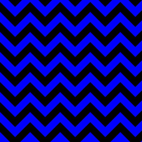 Basic Simple Blue Black Color Chevron Zig Zag Pattern