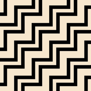 Big Small Size Sparkling Wine Champagne Black Color Stairs Chevron Zig Zag Pattern