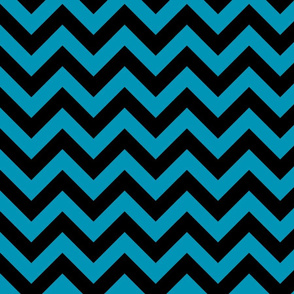 Blue Green Black Color Chevron Zig Zag Pattern