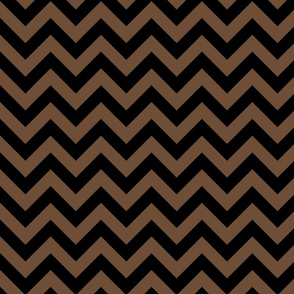 Coffee Brown Black Color Chevron Zig Zag Pattern