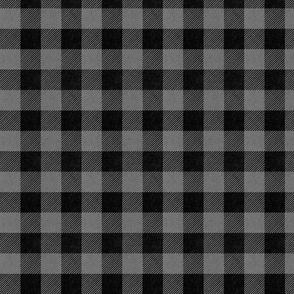buffalo plaid fabric gray