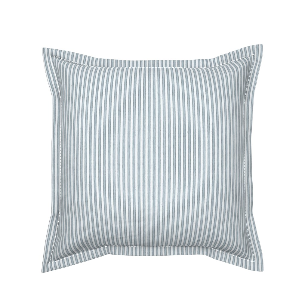 Serama Throw Pillow featuring Faded French Stripe - Blue by kristopher_k