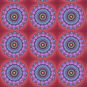Circular Red and Blue