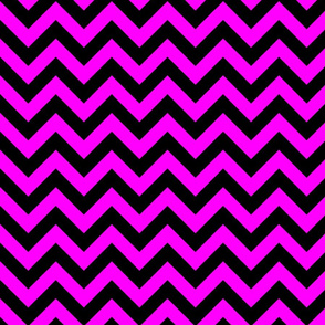 Magenta Black Color Chevron Zig Zag Pattern