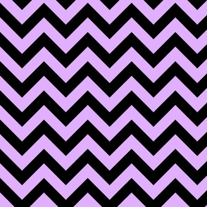 Mauve Pink Black Color Chevron Zig Zag Pattern
