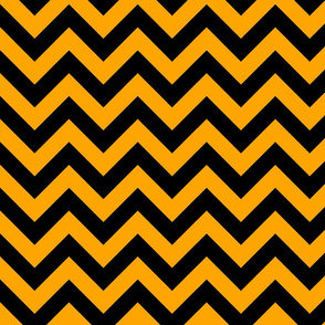 Orange Fruit Black Color Chevron Zig Zag Pattern