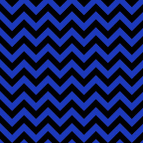 Persian Blue Black Color Chevron Zig Zag Pattern