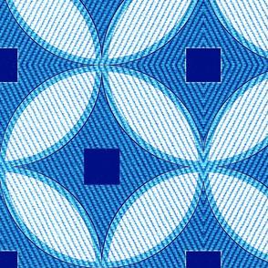 Mid century Modern Geometric circle Textured wallpaper