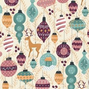 Keepsake Ornaments in Purple + Gold