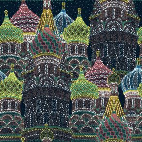 Moscow in Holiday Lights