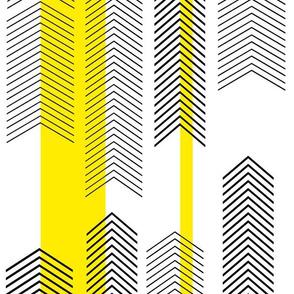 chevron stripe in VIVID yellow for wallpaper