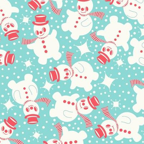 snowmanbluered