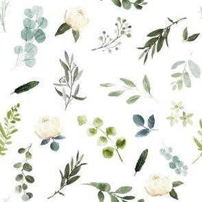 "8"" Eucalyptus Beauty // White"