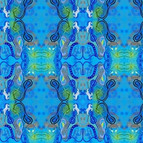 Bright Blue Mystery Pony