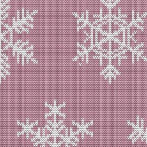 Fair Isle Snowflakes On Plaid Pink