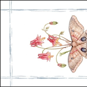 Tea Towel: Watercolor Polyphemus Moth