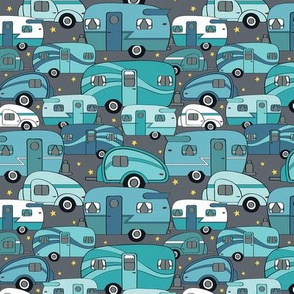 Cozy Campers Blue/Turq (Small)