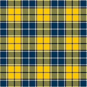 Plaid in Navy Blue and Yellow