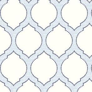moroccan trellis light blue