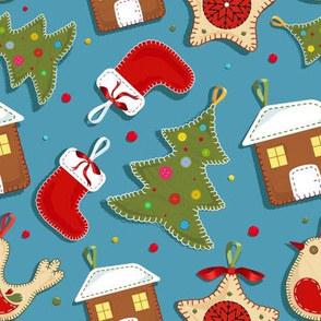 Felt holiday decorations