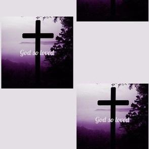 God so Loved-purple