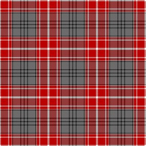 Red and Gray Chunky Plaid