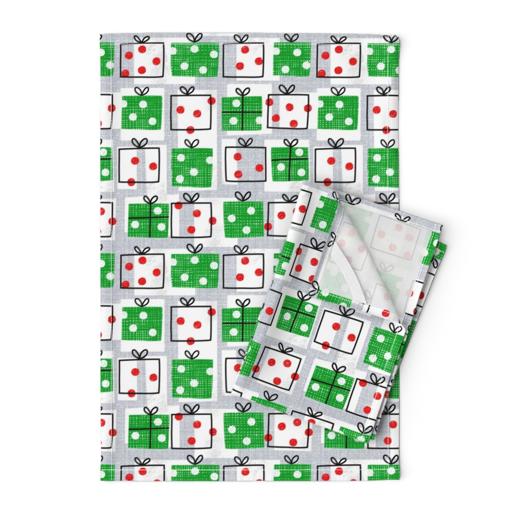Orpington Tea Towels featuring dotty boxes-Christmas presents by ottomanbrim