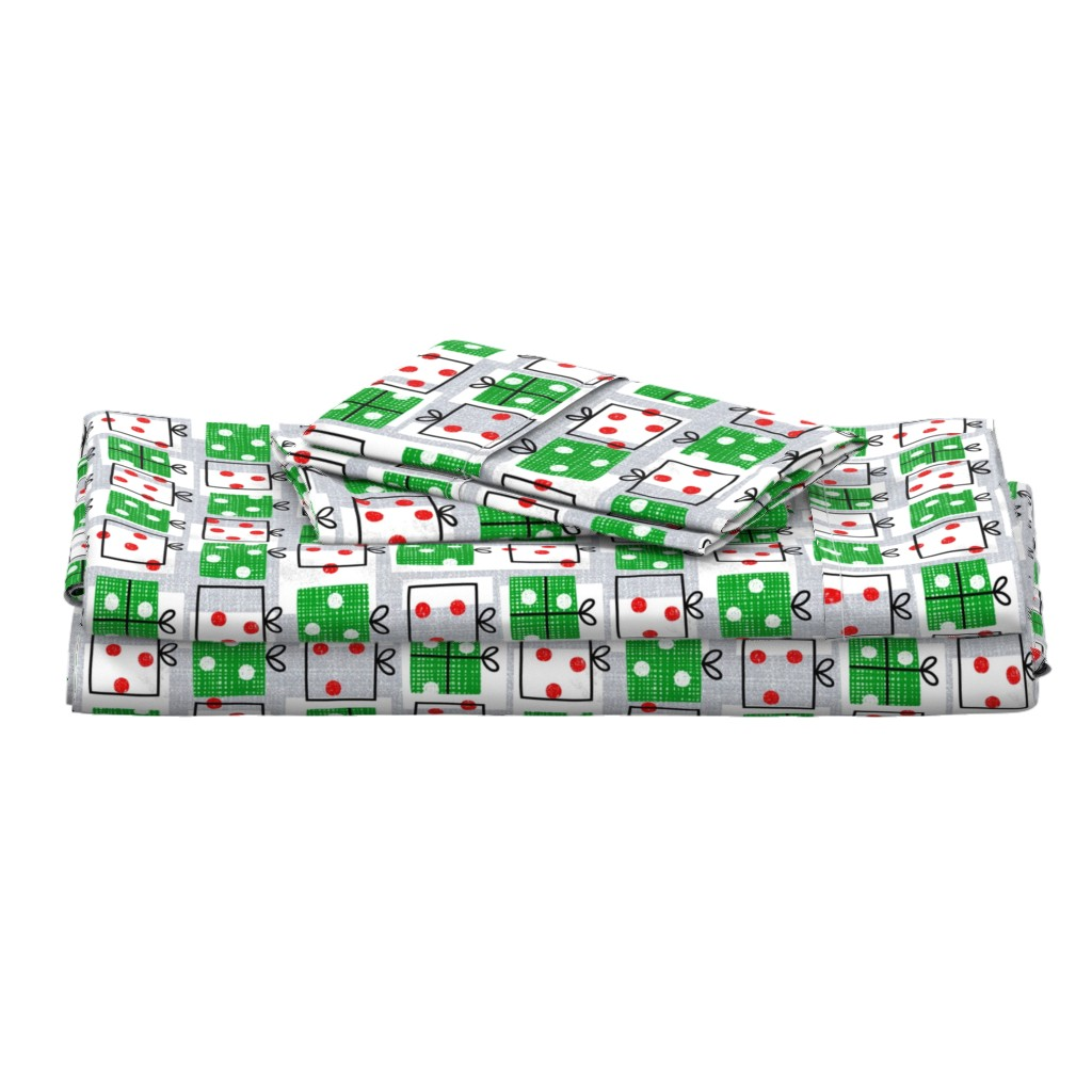 Langshan Full Bed Set featuring dotty boxes-Christmas presents by ottomanbrim